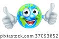 Cartoon World Earth Day Globe Character 37093652