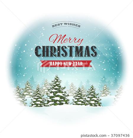 Christmas Landscape Postcard 37097436