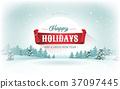 Christmas Landscape Postcard 37097445