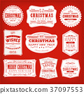 Christmas Frames, Banners And Badges 37097553