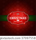 Merry Christmas Ornament Background 37097558