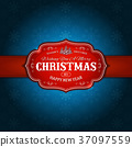 VIntage Merry Christmas Background 37097559