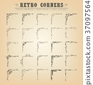 Vintage Old-Fashioned Corners, Borders And Frames 37097564