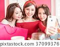 woman selfie happily 37099376