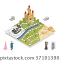 Fairy Tale Gameboard Isometric Composition  37101390