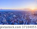 노을, 건물, 하늘 37104055