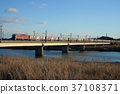 river, freight, train 37108371
