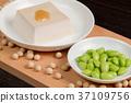 Edamame and sesame tofu 37109756