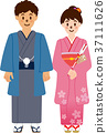 first shrine visit of new year, kimono, japanese clothes 37111626