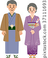 新年參拜 和服 日式服裝 37111693