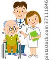 간호 할아버지와 의사와 간호사 37111846