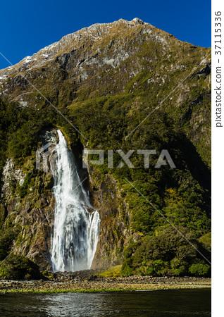 New Zealand Fiordland National Park Milford Stock Photo
