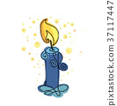 candlestick, candle, vector 37117447