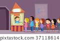 Stickman Kids Theater Ticket Booth Illustration 37118614
