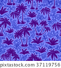 Tropical Palms Silhouettes Seamless 37119756