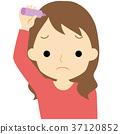 做头发护理的女性 37120852