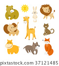 animals, vector, set 37121485