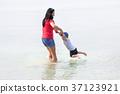 family, beach, baby 37123921