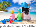 family, beach, coast 37124062