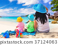 family, beach, coast 37124063