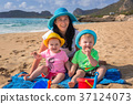 family, beach, coast 37124073
