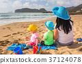 family, beach, coast 37124078