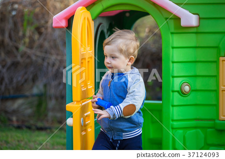 Little boy in the playground 37124093