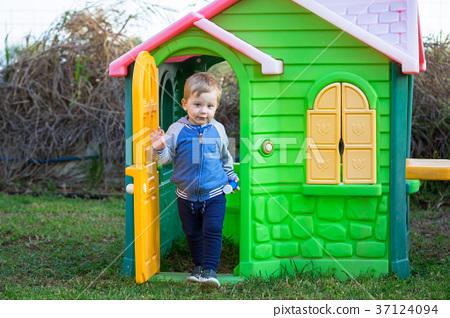 Little boy in the playground 37124094