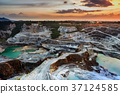 opencast mining quarry with beautiful sunset 37124585