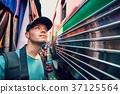Tourist on the railway market 37125564