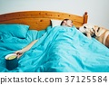 Sick man in the bed 37125584