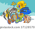 tropical fish sea life animal characters group 37126570
