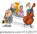 musicians characters playing jazz music 37126577