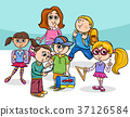 cartoon elementary school children group 37126584