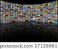 Big multimedia video and image wall of  TV screen 37126961