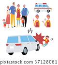 사고를 당할 어린이 일러스트 세트 37128061