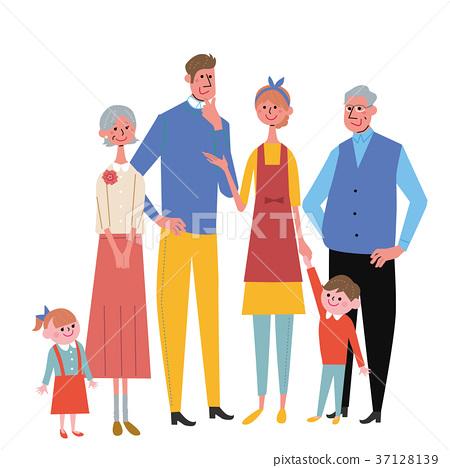 가족 일러스트 세 37128139