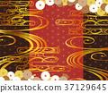 日本圖案背景材料(水平方向) 37129645