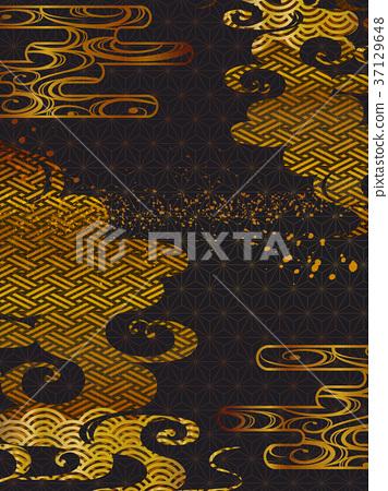 日本圖案背景材料(垂直方向) 37129648