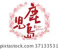 鹿儿岛刷字符樱花框架 37133531