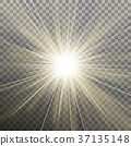 White glowing light burst explosion transparent 37135148