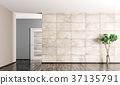 Interior background of empty room 3d rendering 37135791