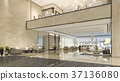 luxury hotel reception hall and lounge restaurant 37136080