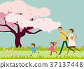 가족, 패밀리, 벚꽃 37137448