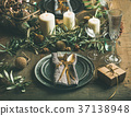 Christmas or New Years celebration table setting 37138948