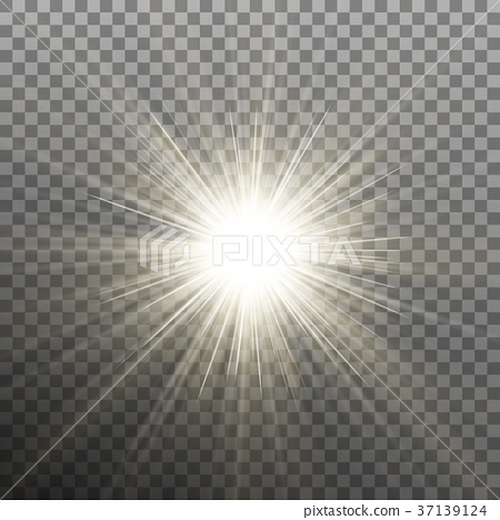 Glow light burst effect on transparent background 37139124