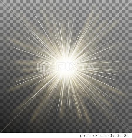 White glowing light burst explosion transparent 37139126