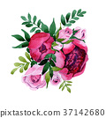 Bouquet flower in a watercolor style isolated. 37142680