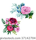 Bouquet flower in a watercolor style isolated. 37142704
