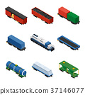 train isometric freight 37146077